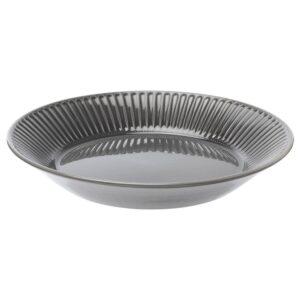 СТРИММИГ Блюдо, каменная керамика серый 29 см - 504.378.86