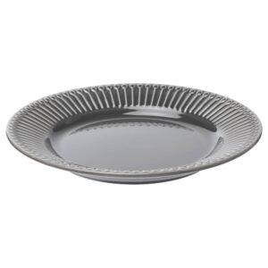 СТРИММИГ Тарелка десертная, каменная керамика серый 21 см - 004.431.92