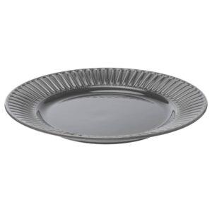 СТРИММИГ Тарелка, каменная керамика серый 27 см - 604.431.89
