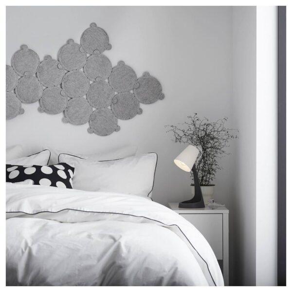 СВАЛЛЕТ Лампа рабочая, темно-серый/белый - 603.584.97