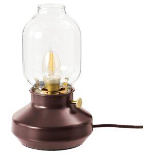 ТЭРНАБИ Лампа настольная, темно-красный - 404.575.30