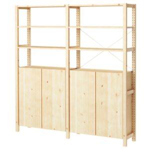 ИВАР 2 секции/полки/шкаф, сосна, 174x30x179 см - 992.483.61