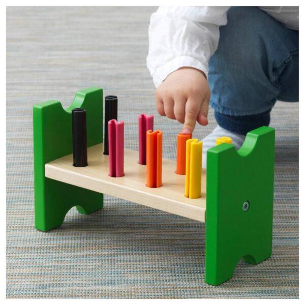 МУЛА Блок с колышками и молотком, разноцветный - 504.521.22