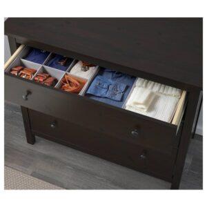 ХЕМНЭС Комод с 3 ящиками, черно-коричневый, 108x96 см - 204.269.07