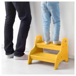 ТРУГЕН Детский табурет-лестница, желтый, 40x38x33 см - 603.715.21