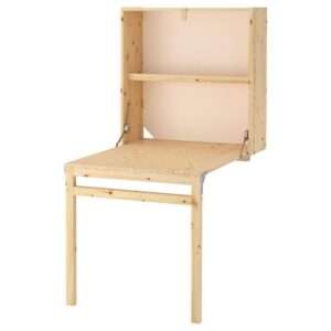 ИВАР Модуль д/хранения/складной стол, сосна, 80x30-104x155 см - 203.820.60