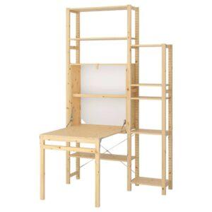 ИВАР 2 секции д/хранения+складной столик, 134x30-104x226 см - 492.485.56