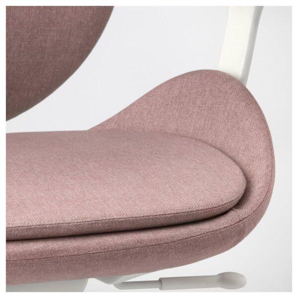 ХАТТЕФЬЕЛЛЬ Рабочий стул с подлокотниками, Гуннаред светлый коричнево-розовый, белый - 192.521.30