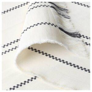 СТИНАМАЙ Плед, белый, темно-серый, 130x170 см - 304.326.77