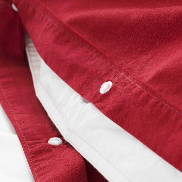 ЭНГСЛИЛЬЯ Пододеяльник и 2 наволочки, красный, 200x200/50x70 см - 704.434.38