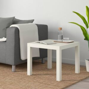 ЛАКК Придиванный столик, белый, 55x55 см - 704.499.11