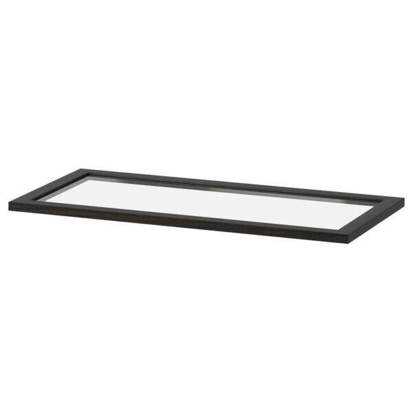 КОМПЛИМЕНТ Полка стеклянная, черно-коричневый, 75x35 см - 604.375.55