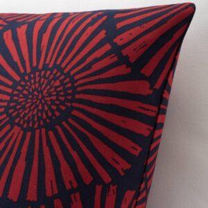 СТЭРНТЮЛЬПАН Чехол на подушку, темно-синий, красный, 50x50 см - 904.474.40
