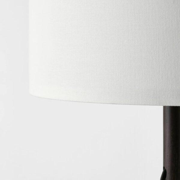 ЛАУТЕРС Светильник напольный, коричневый ясень, белый - 204.059.43