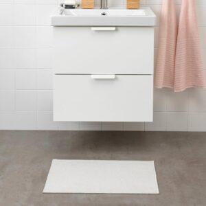 ФИНТСЕН Коврик для ванной, белый, 40x60 см - 504.437.07