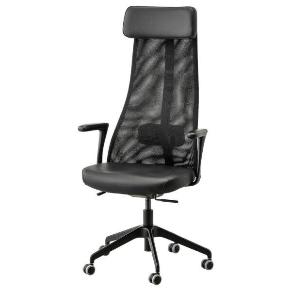 ЭРВФЬЕЛЛЕТ Вращающееся легкое кресло, Глосе черный - 893.047.05