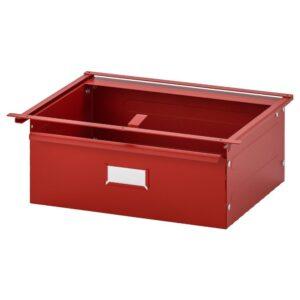 ИВАР Ящик, красный, 39x30x14 см - 304.503.84