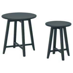 КРАГСТА Комплект столов, 2 шт, темный сине-зеленый - 204.525.95
