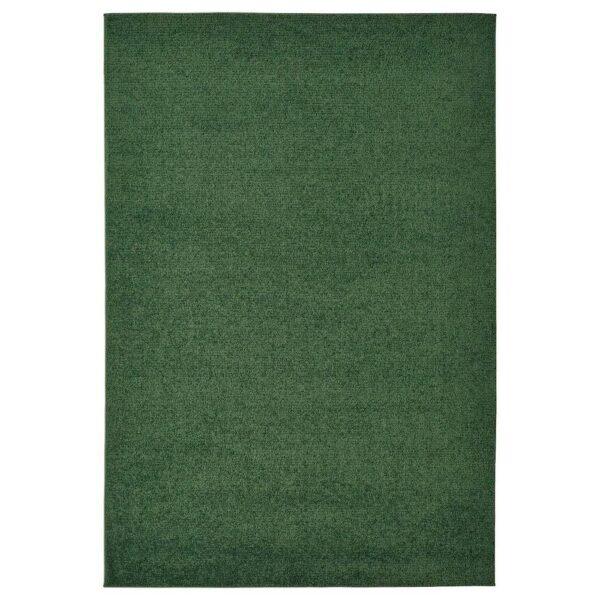 СПОРУП Ковер, короткий ворс, темно-зеленый, 133x195 см - 804.534.36
