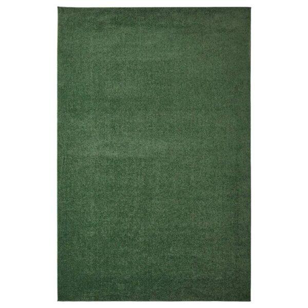 СПОРУП Ковер, короткий ворс, темно-зеленый, 200x300 см - 304.534.29