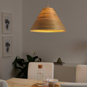 ИЛСБУ Абажур для подвесн светильника, бамбук, 45 см - 704.540.64