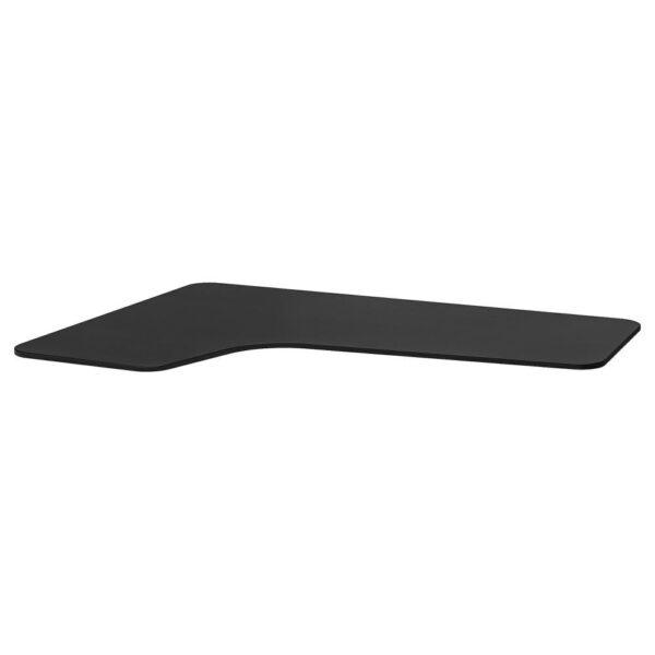БЕКАНТ Столешница с вырезом, левая, ясеневый шпон/черная морилка, 160x110 см - 703.663.07