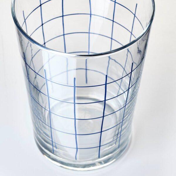 СПОРАДИСК Стакан, прозрачное стекло, клетчатый орнамент, 46 сл - 604.158.98