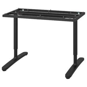 БЕКАНТ Подстолье для столешницы, черный, 120x80 см - 504.327.99