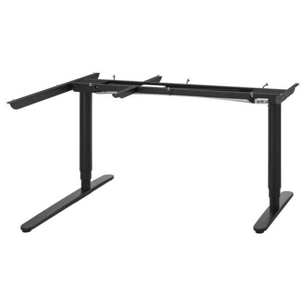 БЕКАНТ Угловой стол-трансформер,электр, черный, 160x110 см - 003.844.80