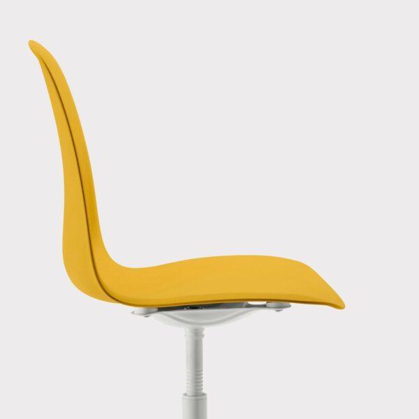 ЛЕЙФ-АРНЕ Рабочий стул, темно-желтый, Бальсбергет белый - 893.049.65