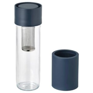 ЭФТРЕСТРЭВА Дорожная кружка, прозрачное стекло, силикон, 0.5 л - 004.153.11