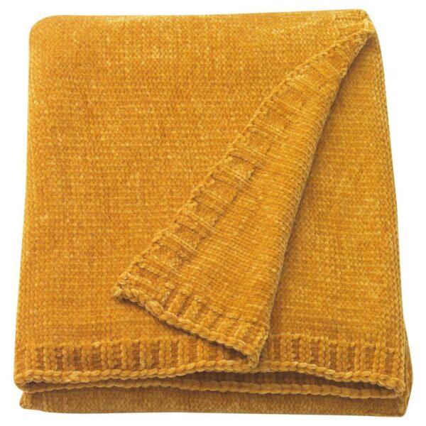 МИАЛОТТА Плед, желтый, 130x170 см - 204.654.80