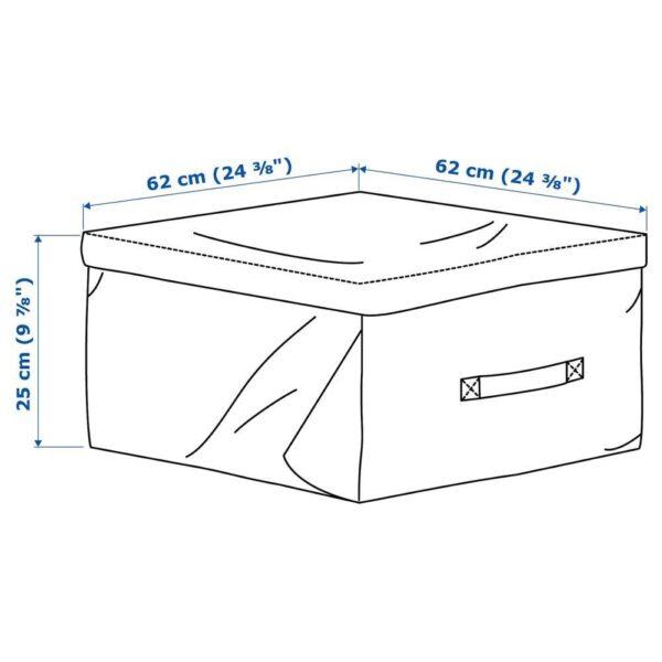 ТОСТЕРО Мешок для подушек, черный, 62x62 см - 204.098.23