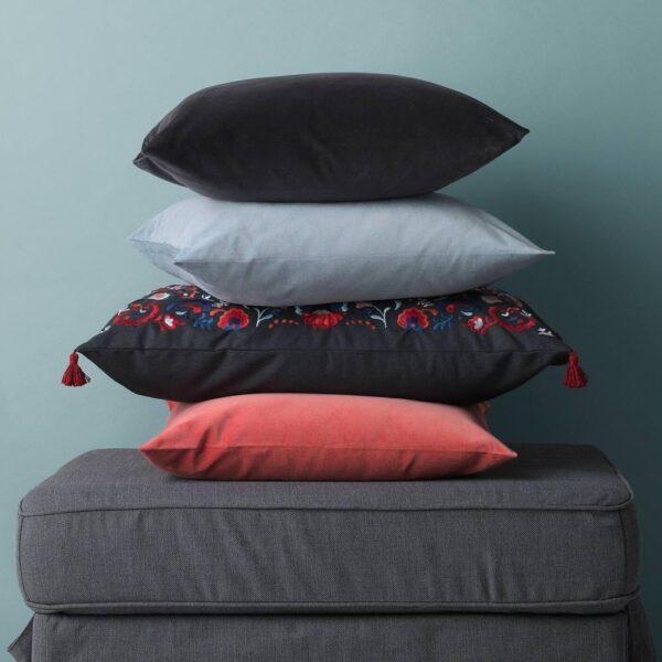 САНЕЛА Чехол на подушку, темно-серый, 50x50 см - 404.717.34