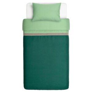 ВАРВЕРОНИКА Пододеяльник и 1 наволочка, зеленый, 150x200/50x70 см - 604.693.39