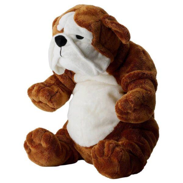 КЛАППАР Мягкая игрушка, бульдог коричневый, белый - 204.412.05