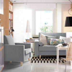 АСКЕСТА 3-местный диван-кровать, Книса светло-серый - 804.508.00