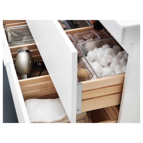 ГОДМОРГОН / ОДЕНСВИК Шкаф для раковины с 2 ящ, белый, ДАЛЬШЕР смеситель, 83x49x64 см - 092.929.09