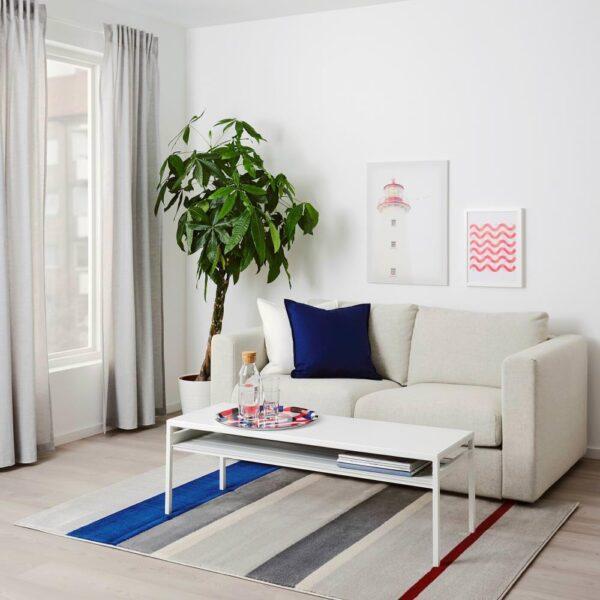 ЛИЛЛЕВОРДЕ Ковер, короткий ворс, серый, разноцветный, 133x195 см - 904.526.86