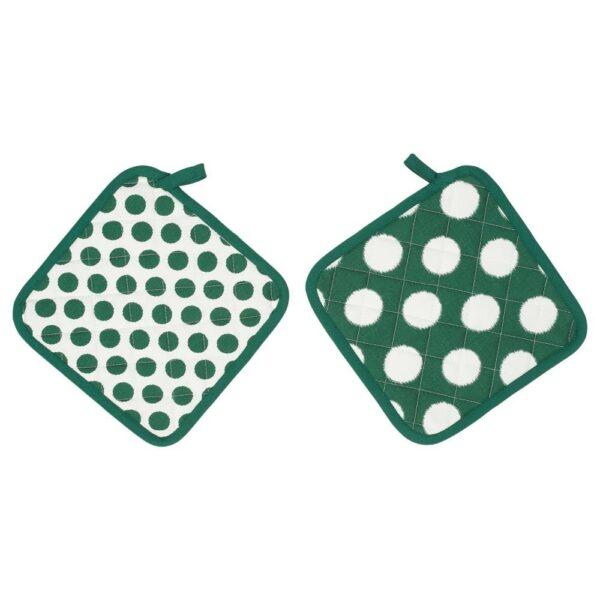 АЛЬВАЛИЗА Прихватка, зеленый, белый, 23x23 см - 304.541.84