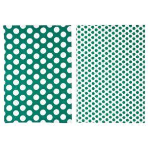 АЛЬВАЛИЗА Полотенце кухонное, зеленый, белый, 50x70 см - 504.541.78