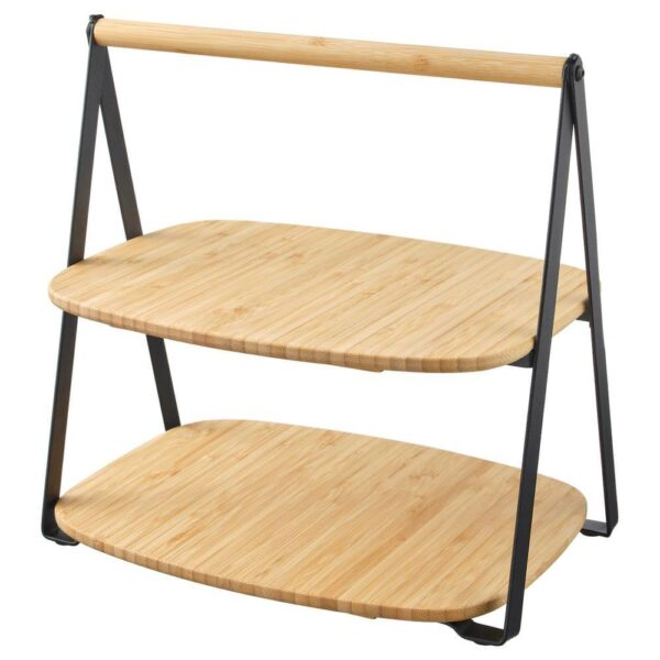 ФУЛЛСПЭККАД Поднос сервировочный, бамбук, черный, 28x20 см - 604.336.42