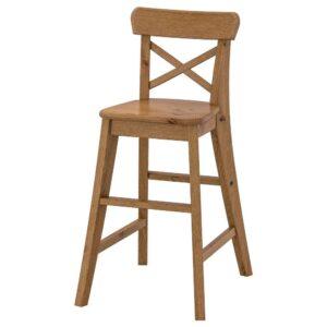 ИНГОЛЬФ Детский стул, морилка,антик - 704.669.10
