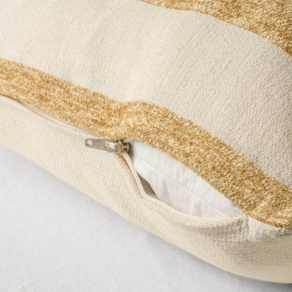 КНИППАРВ Подушка, неокрашенный золотисто-желтый, в полоску, 50x50 см - 504.565.25