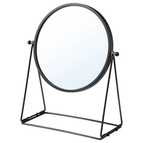 ЛАССБЮН Зеркало настольное, темно-серый, 17 см - 804.590.99