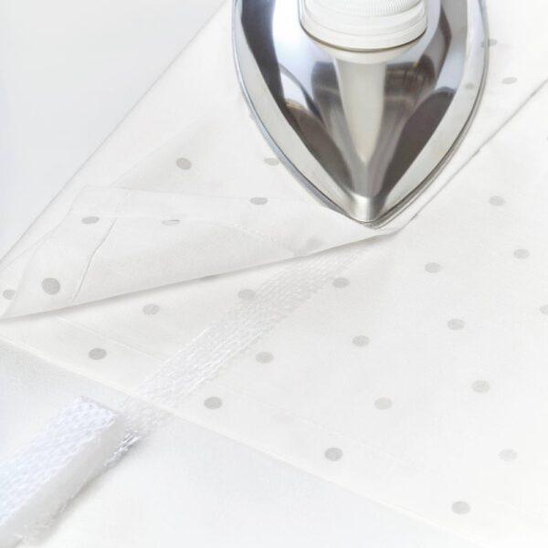 ЛЕН Гардины с прихватом, 1 пара, точечный, белый, 120x300 см - 304.576.39