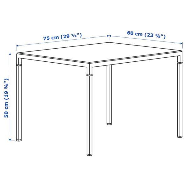 НИБОДА Журнальный стол/2-сторон столешница, темно-серый под бетон, черный, 75x60x50 см - 304.526.27