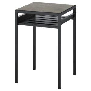 НИБОДА Столик с двусторонней столешницей, темно-серый под бетон, черный, 40x40x60 см - 104.526.33