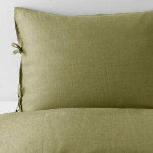 ПУДЕРВИВА Пододеяльник и 1 наволочка, светлый оливково-зеленый, 150x200/50x70 см - 004.498.39