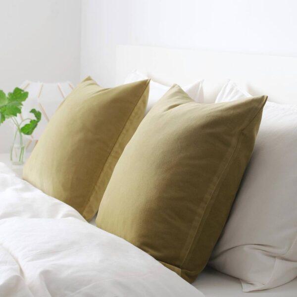 САНЕЛА Чехол на подушку, светлый оливково-зеленый, 50x50 см - 904.565.28
